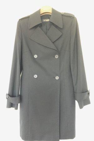 Trenchcoat noir laine