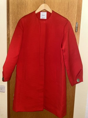 Mango Heavy Pea Coat red