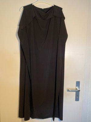 Gerade geschnittenes Kleid in schwarz