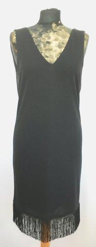 Gerade geschnittenes Kleid mit Fransensaum
