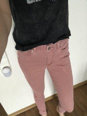 find. Pantalón de pinza alto rosa claro
