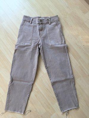 H&M Jeansy z prostymi nogawkami szaro-brązowy