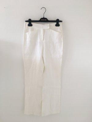 Orwell Pantalon en lin blanc-blanc cassé lin