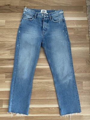 Zara Jeansy z prostymi nogawkami błękitny-stalowy niebieski