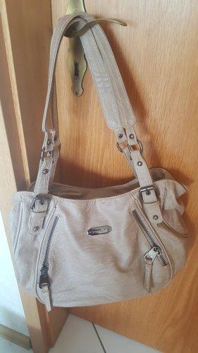 Geräumige, beige Handtasche von Bag Street