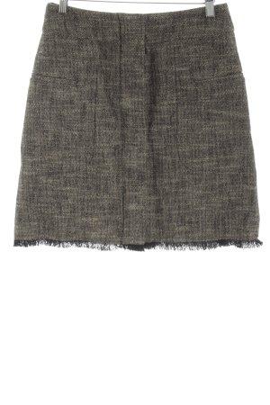 Gerard darel Jupe à franges gris clair-bronze style mode des rues