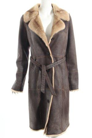 Gerard darel mantel dunkelbraun-hellbraun