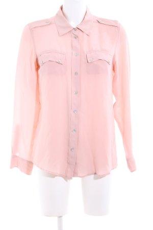 Gerard darel Langarm-Bluse pink Business-Look