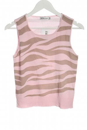Gerard darel Knitted Top pink animal pattern casual look