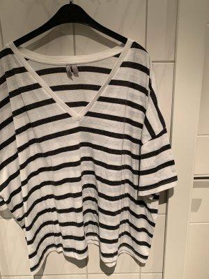Geringeltes Oversized T-Shirt