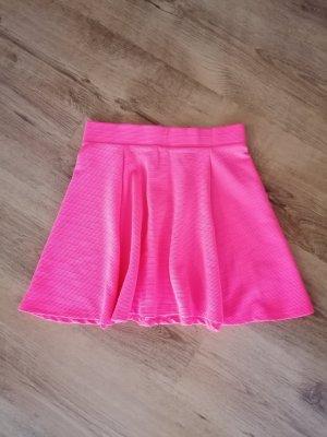 H&M Skaterska spódnica pomarańczowy neonowy-różowy neonowy