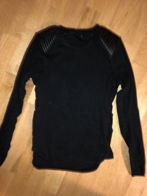Zara Kraagloze sweater zwart