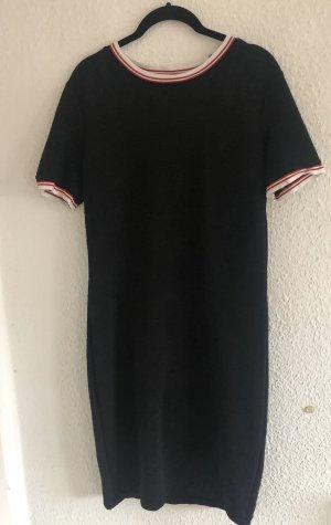 Geripptes, dunkelblaues Kleid von Mango Größe L