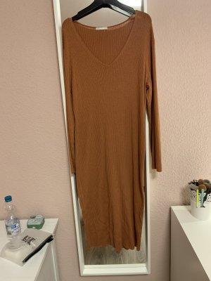 H&M Abito di maglia cognac-arancione scuro