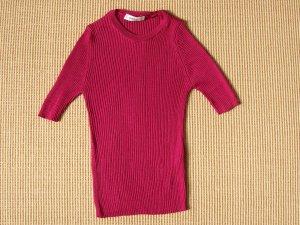Zara Knit Chemise côtelée magenta