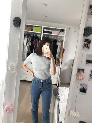 Gina Tricot Chemise côtelée gris clair-gris