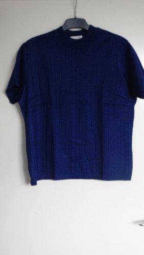 Maglione a maniche corte blu-blu scuro Acrilico