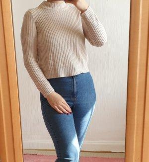 geripptes Pullover