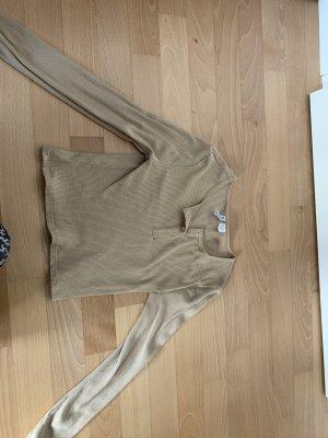 H&M Camisa acanalada beige