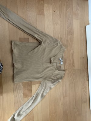 H&M Geribd shirt beige