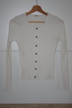 H&M Geribd shirt wit
