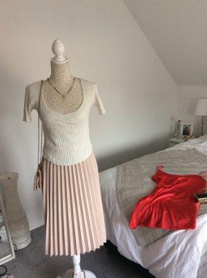 Zara Maglia con scollo a V bianco-bianco sporco