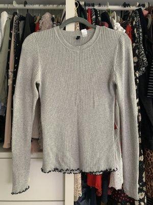 H&M Divided Ribbed Shirt grey-light grey