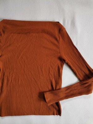 Amisu Top o skróconym kroju ciemny pomarańcz-rudy