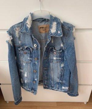 New Yorker Veste en jean bleu-blanc