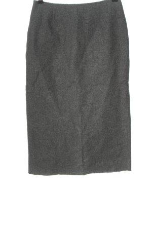 Germano Zama Gonna di lana grigio chiaro puntinato stile professionale