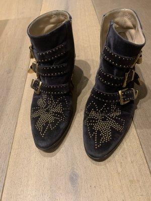 Chloé Low boot noir-brun sable