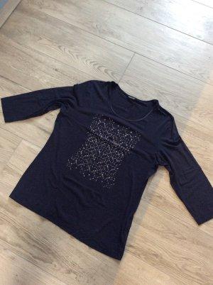 Gerry Weber Shirt met print donkerblauw-zilver