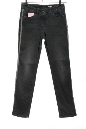 Gerry Weber Jeansy 7/8 czarny-srebrny W stylu casual