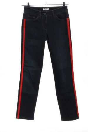 Gerry Weber Jeansy 7/8 niebieski-czerwony W stylu casual