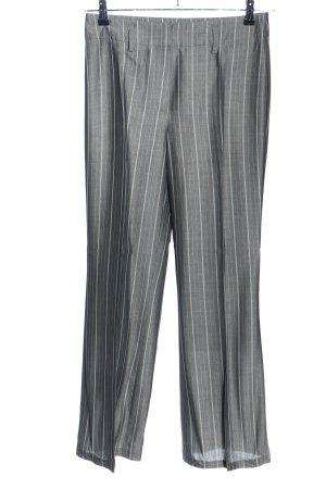Gerry Weber Anzughose hellgrau-weiß Streifenmuster Business-Look