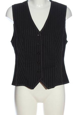 Gerry Weber Gilet de costume noir-blanc motif rayé style classique