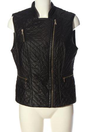 Gerry Weber Biker vest zwart quilten patroon casual uitstraling