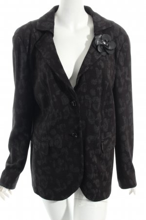 Gerry Weber Blazer black-dark grey leopard pattern retro look