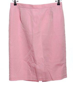 Gerry Weber Bleistiftrock pink Punktemuster Casual-Look