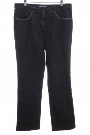 Gerry Weber Boot Cut Jeans dunkelgrau Jeans-Optik