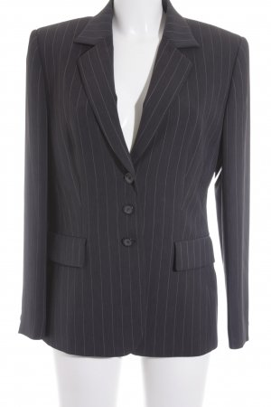 Gerry Weber Boyfriend-Blazer dunkelgrau-weiß Business-Look