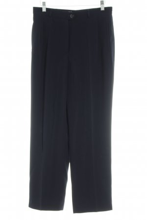 Gerry Weber Pleated Trousers dark blue business style