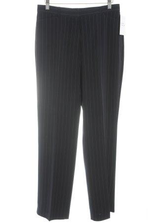 Gerry Weber Bundfaltenhose dunkelblau-weiß Streifenmuster Business-Look