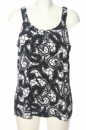 Gerry Weber Camisole zwart-wit abstract patroon casual uitstraling
