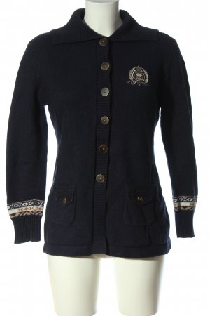 Gerry Weber Cardigan blau grafisches Muster Casual-Look