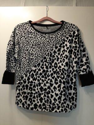 Gerry Weber Casual Shirt Animalprint Leo-Print schwarz weiß Gr. 36