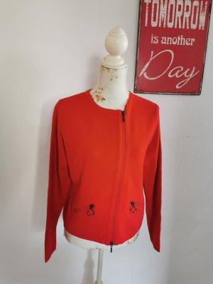 Gerry Weber Collection Damen Feinstrick Jacke Cardigan rot Größe 38
