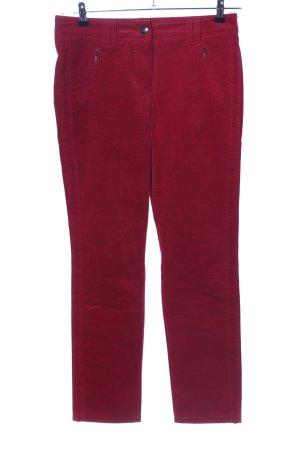 Gerry Weber Pantalon en velours côtelé rouge style décontracté