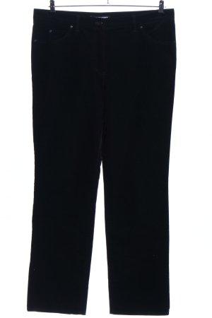 Gerry Weber Pantalon en velours côtelé noir style décontracté