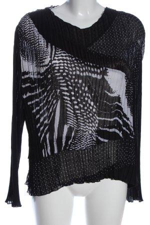 Gerry Weber Blusa estilo Crash negro-blanco Mezcla de patrones elegante